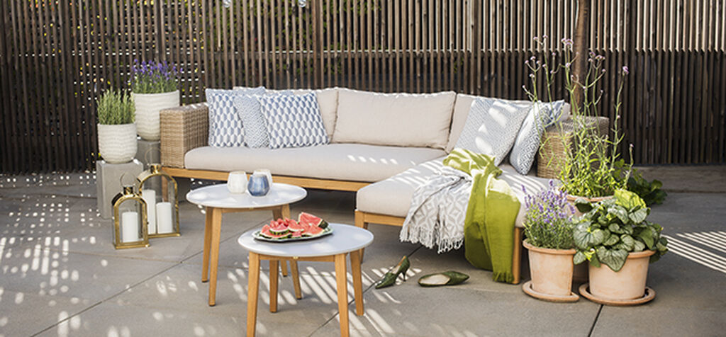 Yteffektiva utemöbler till balkongen