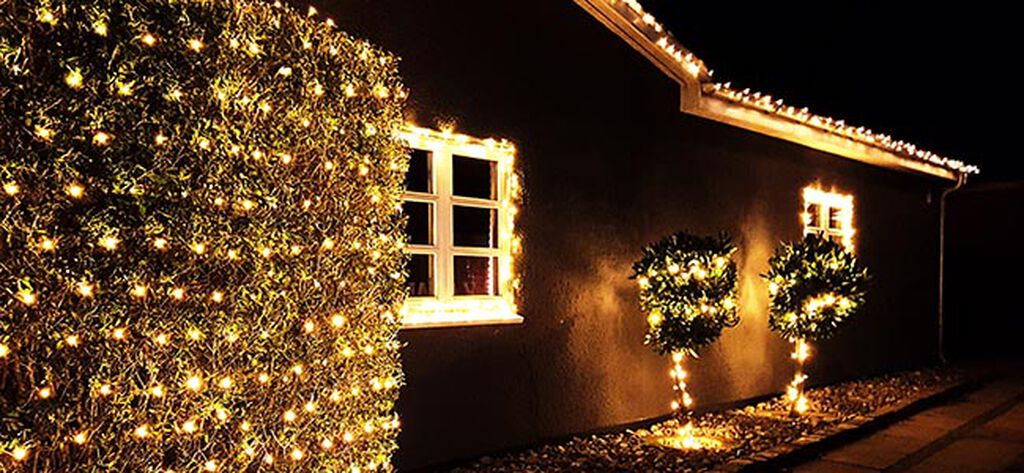 Dekorera trädgården med ljusslingor