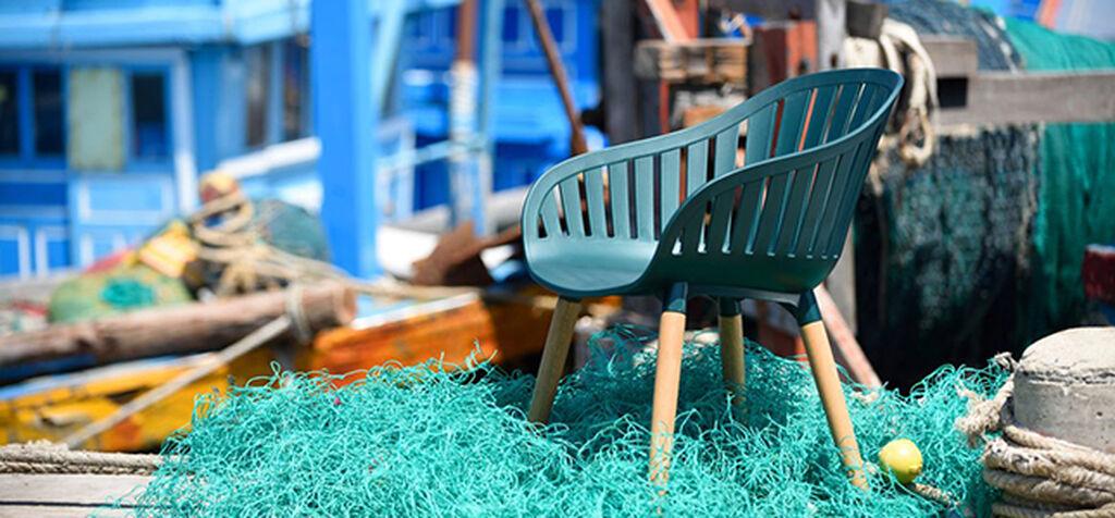 DuraOcean - stol av återvunnen plast