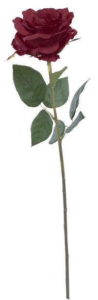 Ros snitt konstgjord, Höjd 63 cm, Rosa