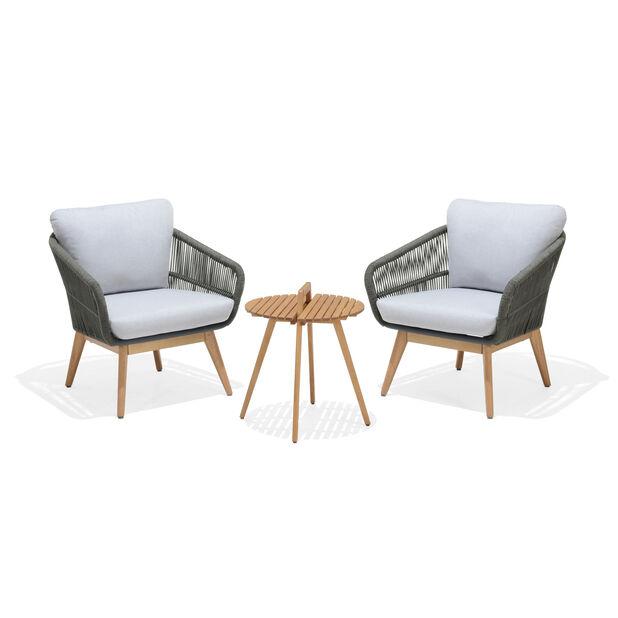 Loungeset Ameland Duo, 2 sittplatser, Grå