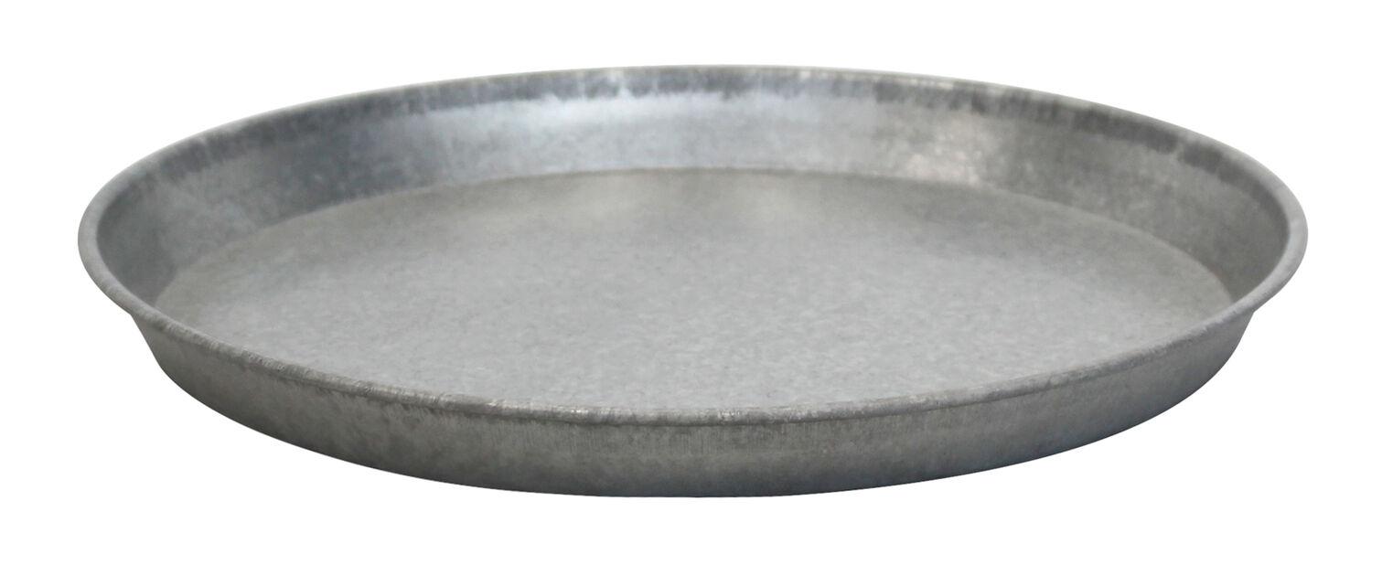 Fat zink, Ø35 cm, Grå