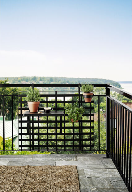 Balkonghållare Tilia, Höjd 89 cm, Svart