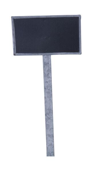 Växtetikett Tyra med griffeltavla, Höjd 33 cm, Silver
