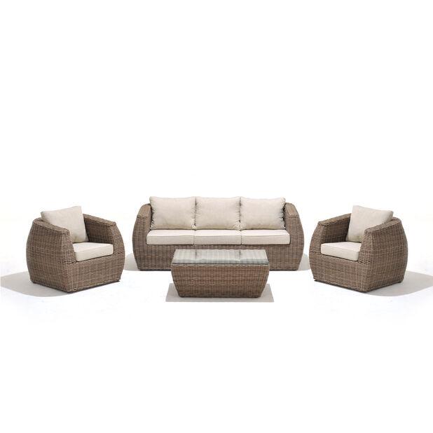 Loungegrupp Galan, 5 sittplatser, Brun