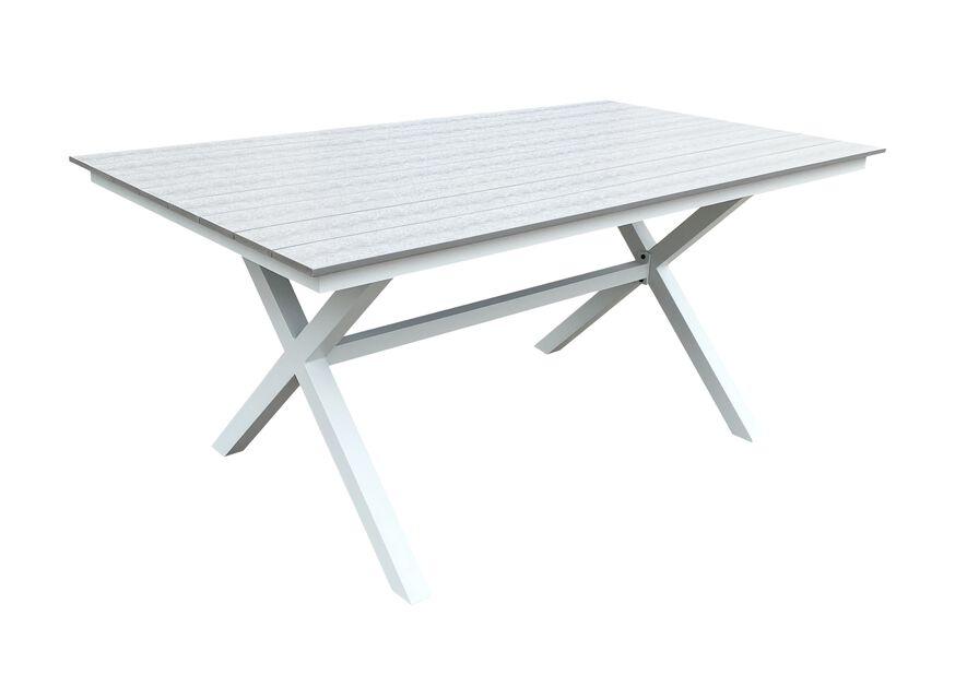 Matbord Chelsea, Längd 160 cm, Vit