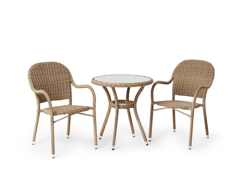 Cafébord Lotus, Ø70 cm, Beige