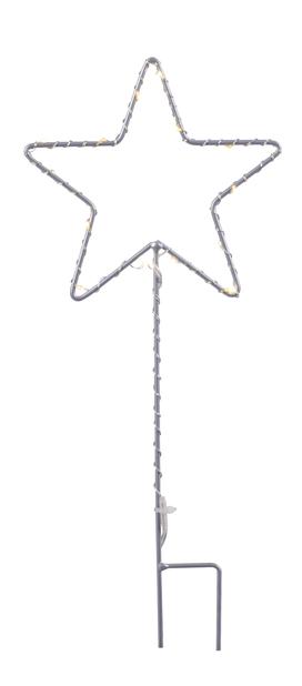 Dekorationsstjärna Kristy, Höjd 30 cm, Röd
