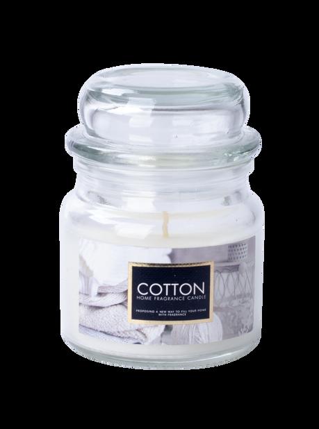 Doftljus Fresh Cotton, Höjd 8.6 cm, Vit