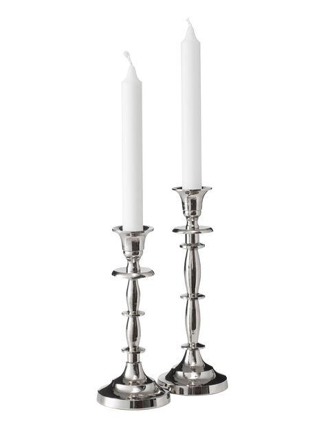 Ljusstake Amelia, Höjd 19 cm, Silver