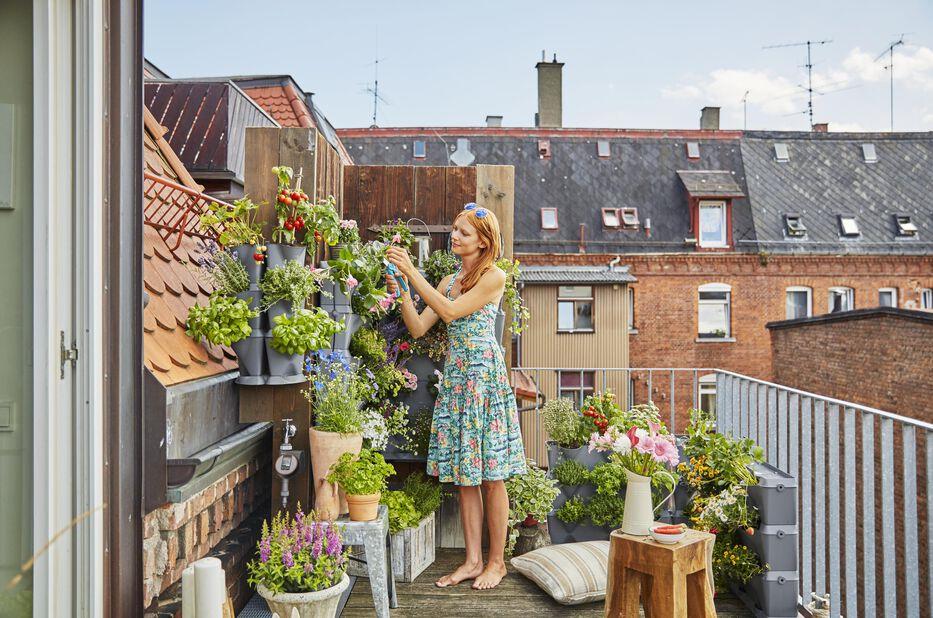 Bevattningsset vertikal växthållare NatureUp! Gardena