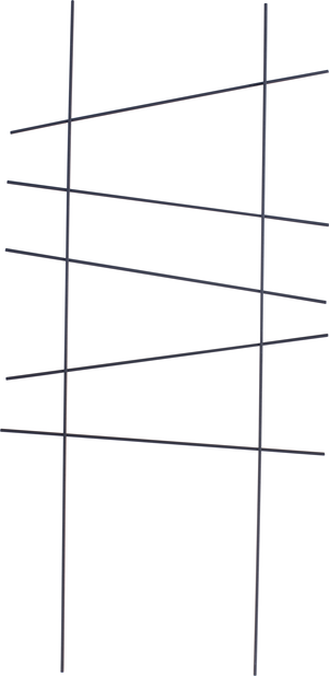Spalje Ortus 58x25,5 cm, svart