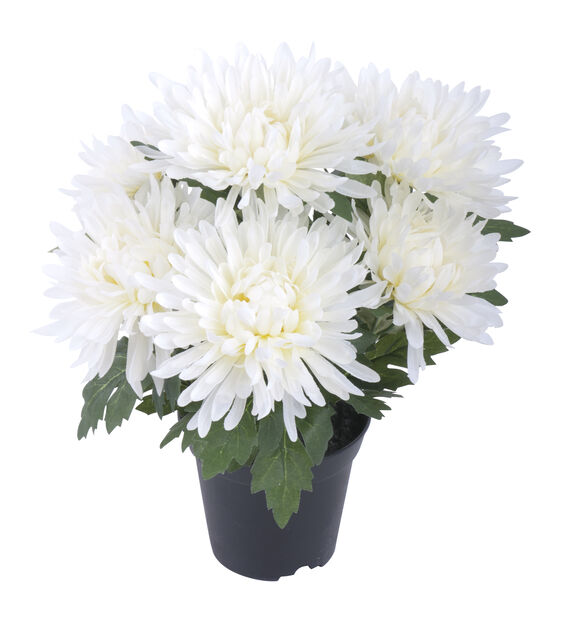 Krysantemum konstgjord, Höjd 37 cm, Vit