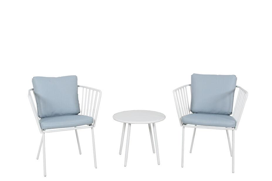Caféset Skagerak, 2 sittplatser, Vit