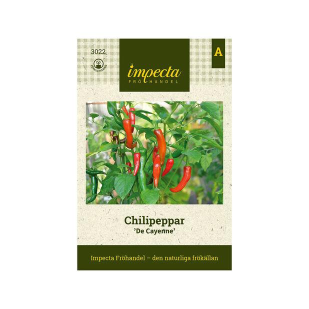 Chilipeppar 'De Cayenne', Röd