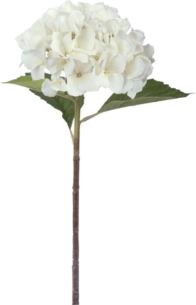 Hortensia konstgjord, Höjd 51 cm, Silver