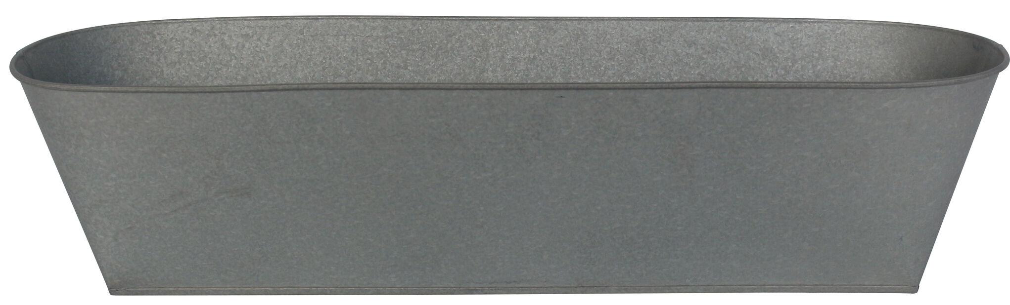 Balkonglåda Mario, Längd 61 cm, Grå