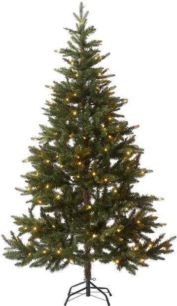 Plastgran Hurdal med belysning, Höjd 180 cm, Grön