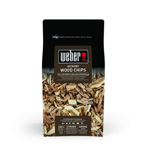 Smoking Wood Chips Hickory, 700 g, Svart