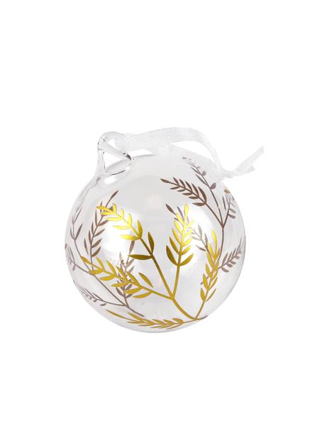 Julgranskula Glas, Ø8 cm, Transparent