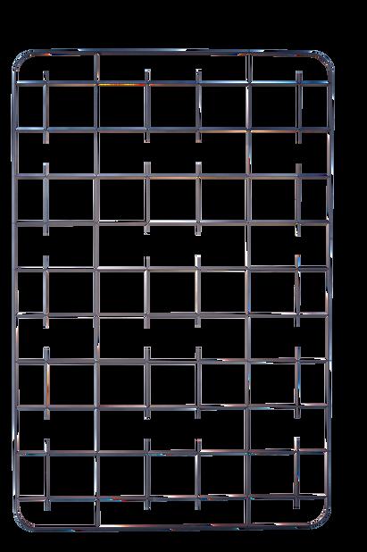 Spaljé Cultura, Höjd 114 cm, Svart