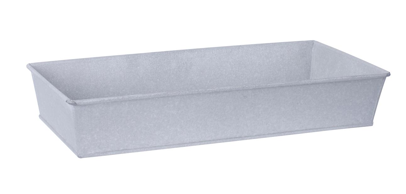 Zinklåda M, Längd 49 cm, Silver