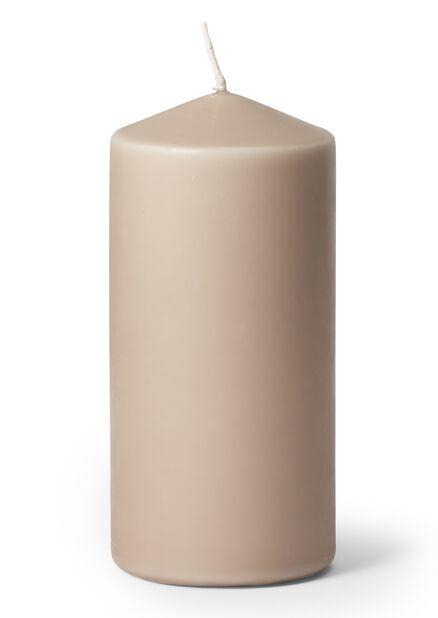 Blockljus, Höjd 14 cm, Grå
