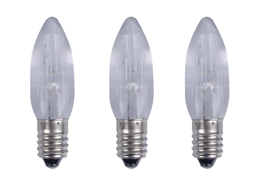 Reservlampa E10, 3-pack, Brun