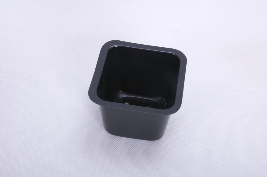 Plastkruka fyrkantig 25-pack., Bredd 9.5 cm, Svart