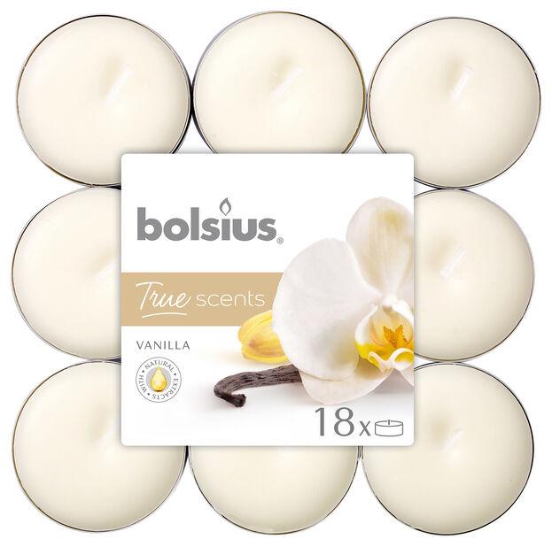 Doftvärmeljus vanilj 18-pack, 18-pack, Vit