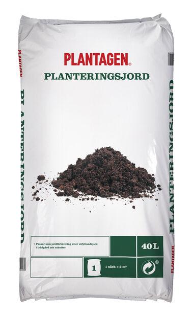 Planteringsjord, 40 L, Brun