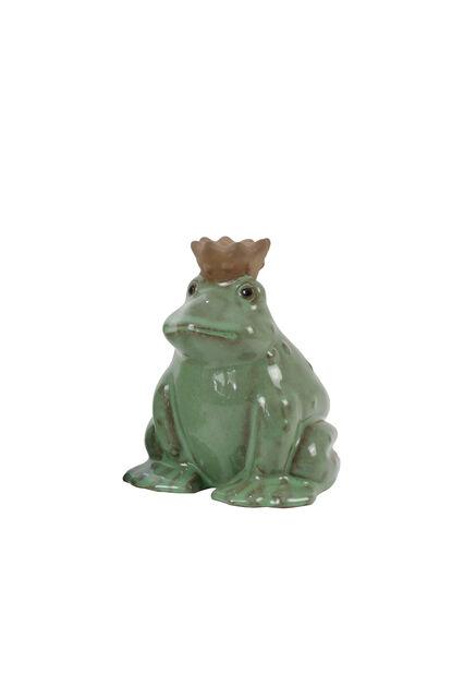 Dekoration groda , Höjd 15 cm, Grön