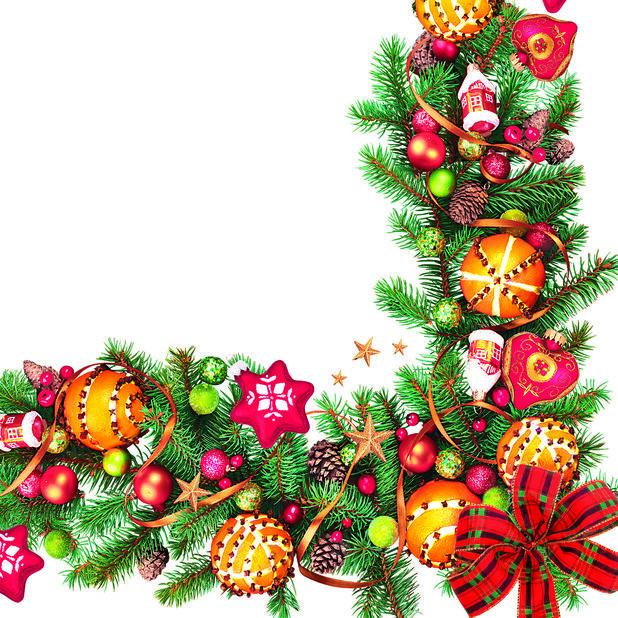 Julservetter Julgirlang, Ø33 cm, Flerfärgad