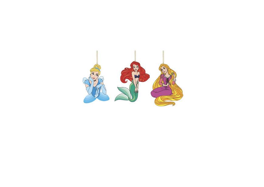 Julgranspynt Prinsessor glasjulkulor, Höjd 13 cm, Flerfärgad
