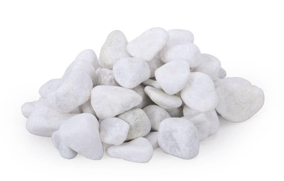 Dekorsten marmor, 10 kg, Vit