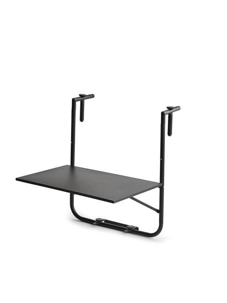 Balkongbord Beata, Bredd 60 cm, Svart