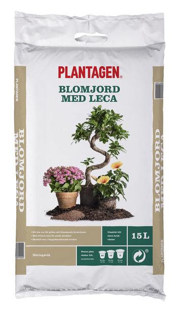 Blomjord med leca , 15 L, Flera färger