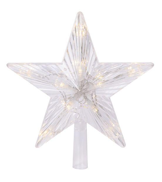 Julgransstjärna LED, Höjd 24 cm, Röd