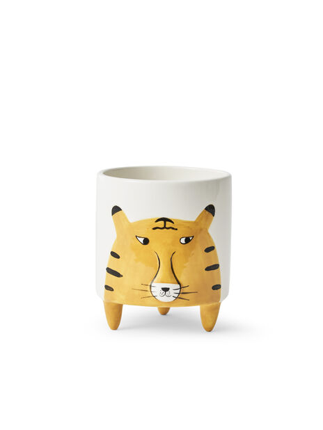 Kruka tiger, Ø11 cm, Gul