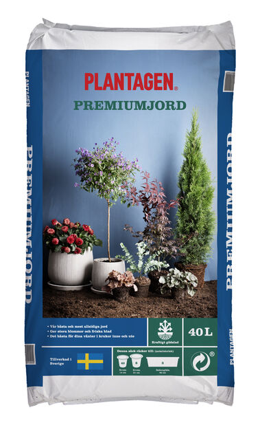 Premium Soil , 40 L, Brun