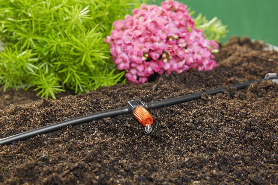 Startpaket blomkrukor M med bevattningsdator Gardena, Längd 25 m