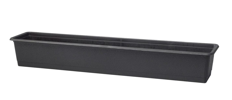 Balkonglåda Structure 70 cm svart