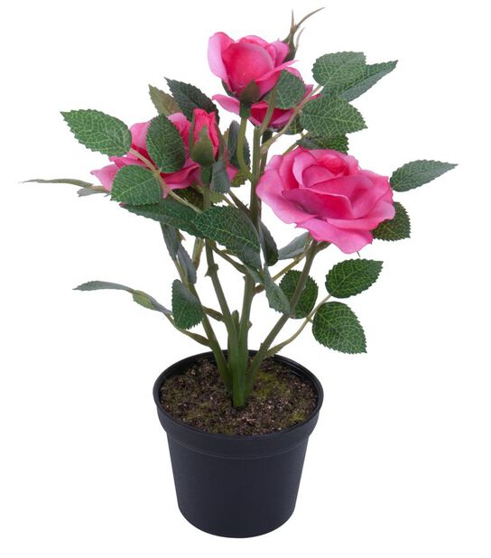 Miniros H20 cm, rosa, konstgjord