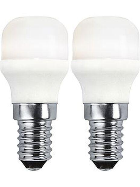 LED-lampa E14-sockel, 2-pack, Vit