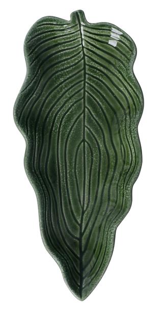 Dekorationsfat blad, Höjd 3 cm, Grön