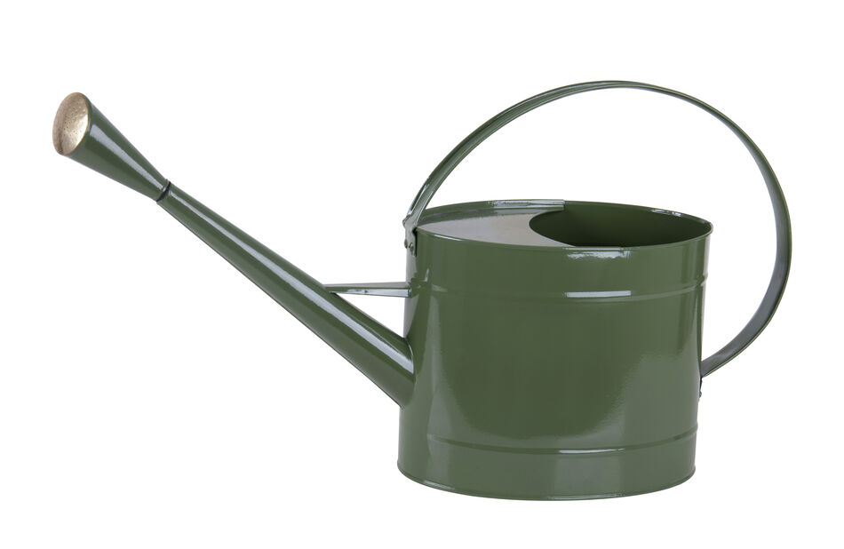 Vattenkanna med mässingstril, 7.5 L, Grön