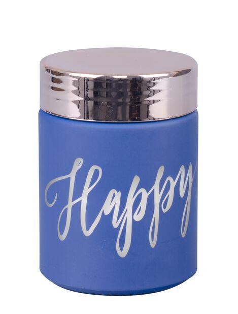 Doftljus Happy, Höjd 8 cm, Blå