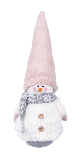 Snögubbe Frosty, Höjd 45 cm, Vit