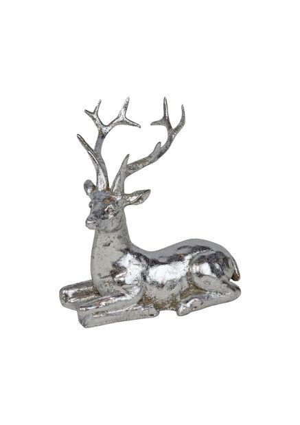 Ren i silver, Höjd 12 cm, Silver