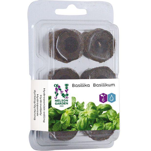 Hydroponisk odlingsplugg basilika, 6-pack, Flerfärgad